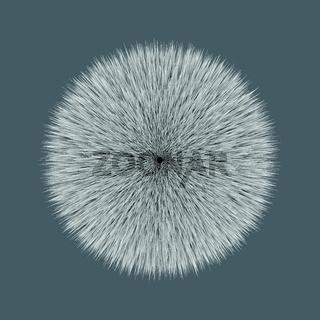 Grey Fluffy Vector Hair Ball
