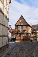 Fachwerkhaus in der Altstadt von Quedlinburg