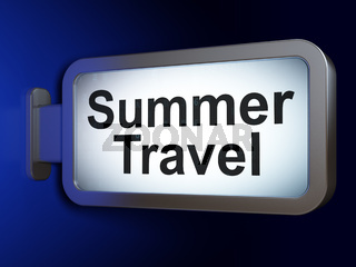 Tourism concept: Summer Travel on billboard background