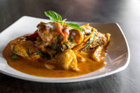 Fish with Red Curry Paste