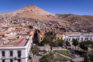 View of the historic center of Potosi, Bolivia