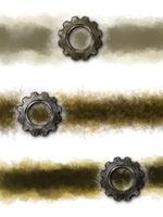 banner hintergrund mit zahnrad - 3d rendering