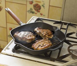 Tasty and juicy steaks