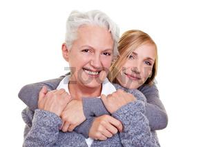 Jung und alt zusammen