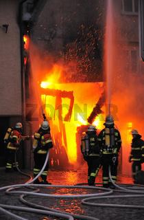 Brand - Feuerwehrleute - Fire - Firefighters