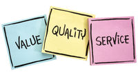 values, quality and service motto