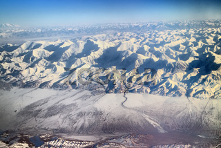Flight over Pamir and Tien Shan 5