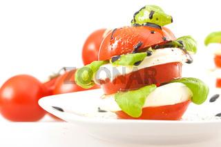 Vorspeise: Tomate-Mozzarella