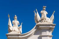 Skulptur am Eingangsportal zur Burg Bratislava