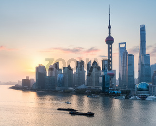 shanghai in sunrise