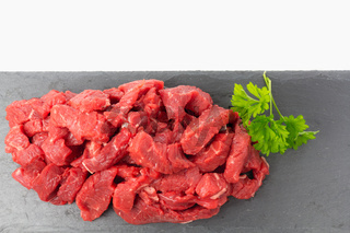 Vorbereitung für die Asia-Pfanne - Fleisch, frisch vom Metzger