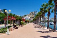 Seafront promenade of Alicante