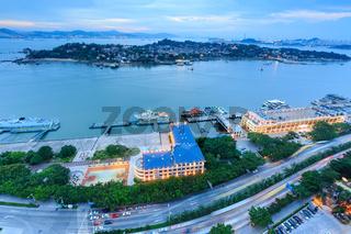 Xiamen Gulangyu Island Panoramic View Of The Island