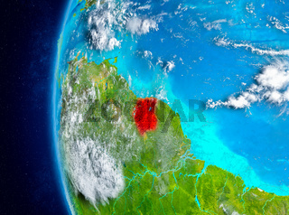 Suriname on Earth from space