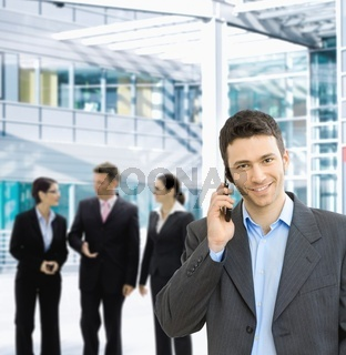 Businessman on mobile