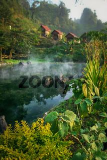 Tropical resort in Laos