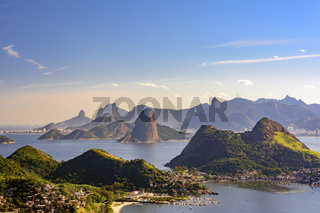 Guanabara bay and hills