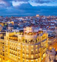 Madrid aerial view, Spain