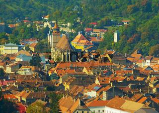 Brasov Old Town cityscape. Romania