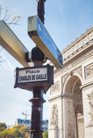 Place Charles De Gaulle sign