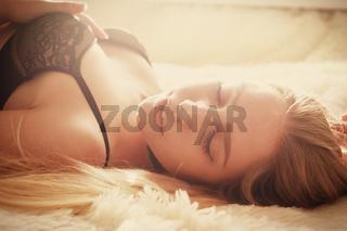 girl lying in sunlight