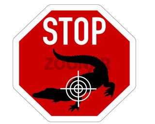 Stopp Fadenkreuz Krokodil