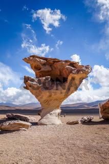 Arbol de Piedra in Siloli desert, sud Lipez reserva, Bolivia