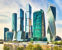Moscow City skyline.