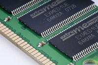 Makro, RAM Arbeitsspeicher von einem Personal Computer, PC |Macro, RAM memory from a personal computer, PC
