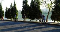 traveler ride bicycle at Da Lat city