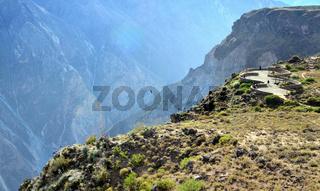 Peru - observation square 'Cruz del Condor'