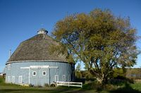 The Moody Blue Round Barn