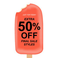 Sale Poster With Ice Cream