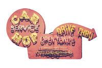 VIntage Carhop Diner Sign
