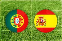 Portugal vs Spain football match