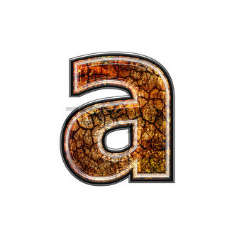 3d letter with grunge texture - a