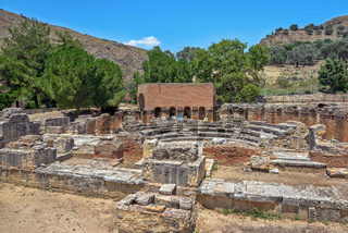 Ancient town Gortyna on Crete, Greece