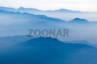 mountain ridges by morning