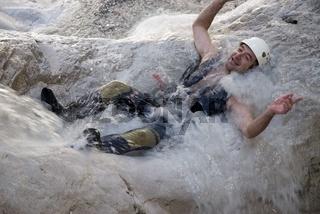 Canyoning im Bruckgraben im Nationalpark Gesäuse