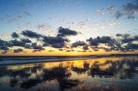 Sonnenuntergang costa de la luz bei cadiz