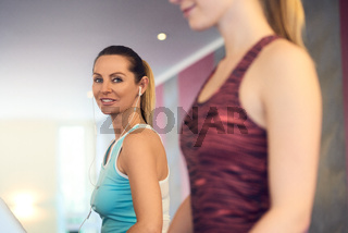Attractive Woman on treadmill in the gym