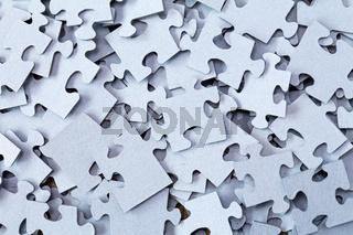 Pile of Blue Blank Puzzle