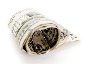 Dollar Bündel mit Geldschein Klammer