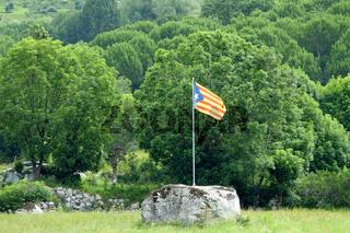 Flagge Kataloniens Estelada Blava