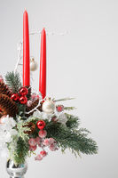 Decorative Christmas bouquet with red candles
