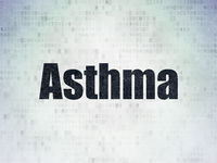 Healthcare concept: Asthma on Digital Data Paper background