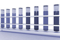 Test tubes with colored contents, 3D-Illustration