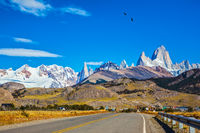 The road to majestic Mount Fitz Roy