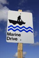 Hinweisschild auf den Marine Drive, Nova Scotia,