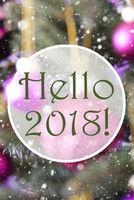 Vertical Rose Quartz Balls, Text Hello 2018